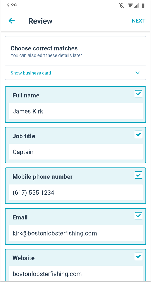 android-business-card-scanner