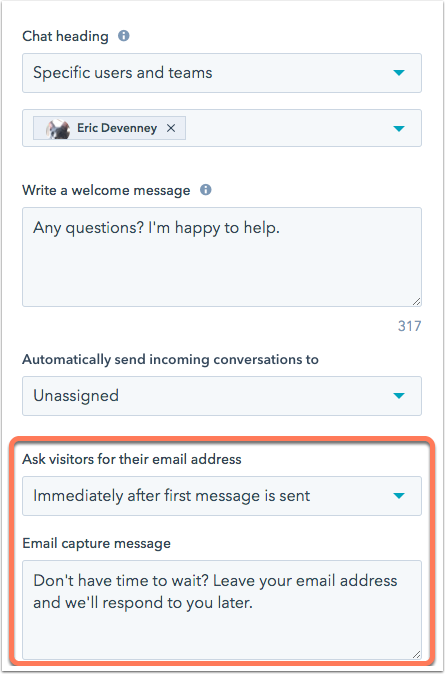 chatflows-build-tab-email-capture-message
